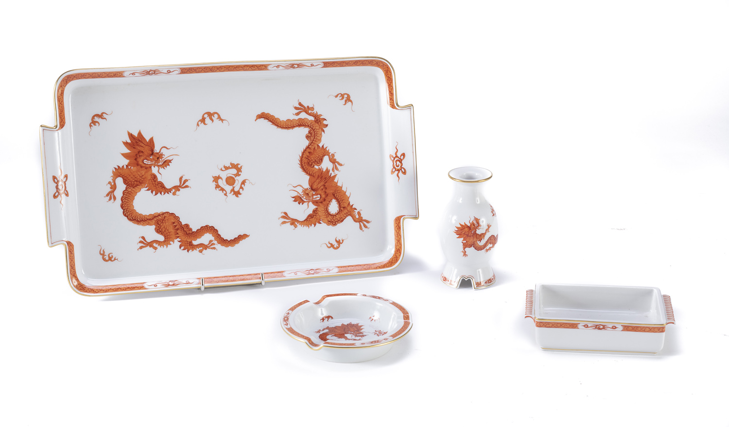 RARE SMOKE SET IN PORCELAIN MEISSEN EARLY 20TH CENTURY