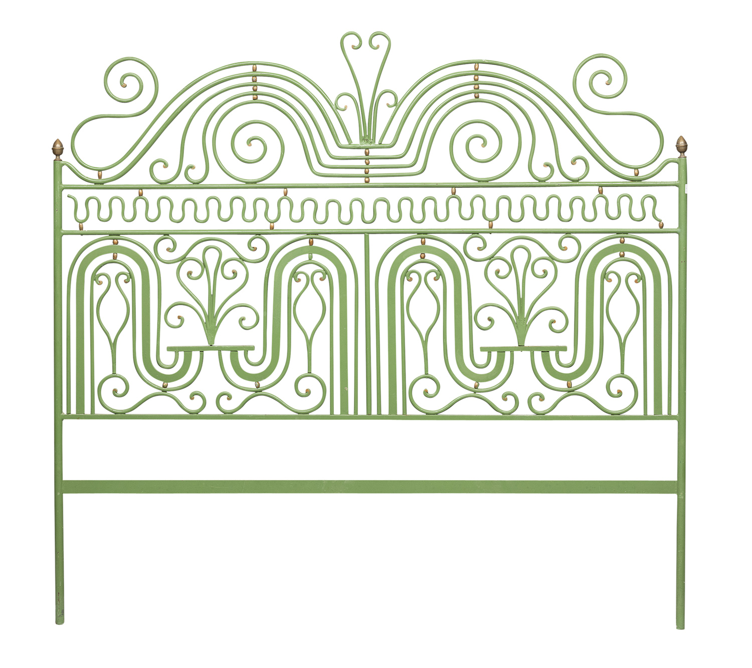 DOUBLE BED HEADBOARD IN WROUGHT IRON EARLY 20TH CENTURY