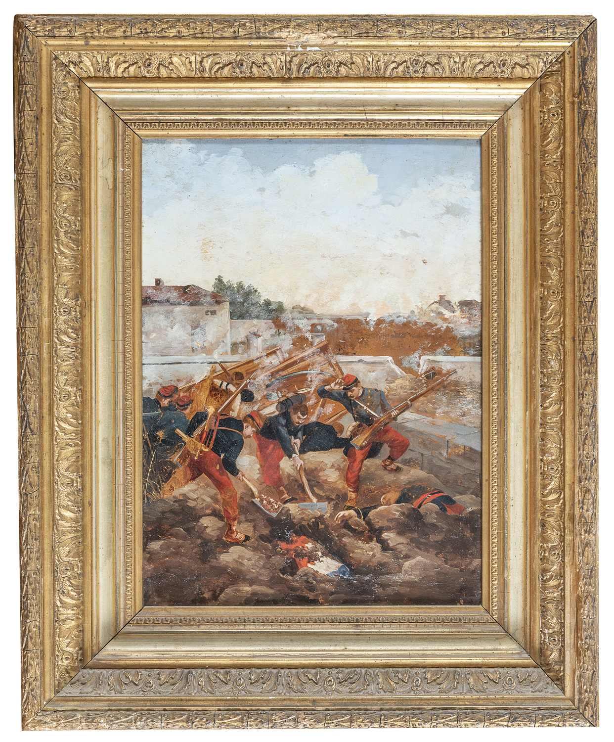 PAIR OF OIL PAINTINGS BY RAOULVERNEUIL ? 19TH-20TH CENTURY - Image 2 of 2