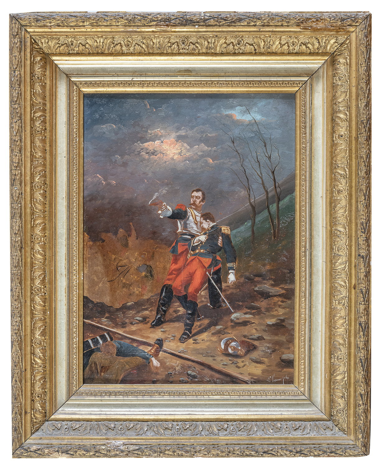 PAIR OF OIL PAINTINGS BY RAOULVERNEUIL ? 19TH-20TH CENTURY