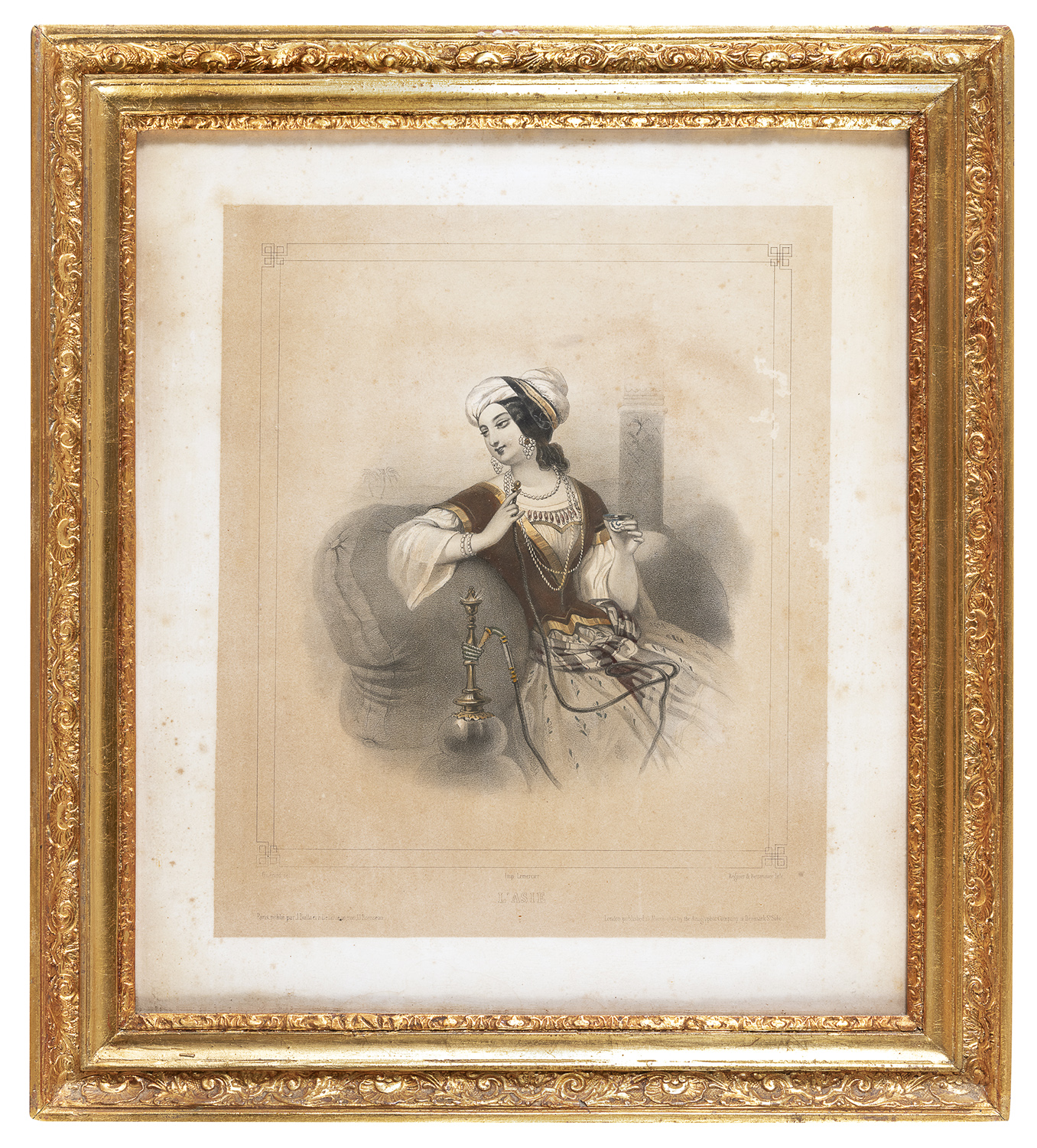 PAIR OF FRENCH ENGRAVINGS 20th CENTURY - Image 2 of 2