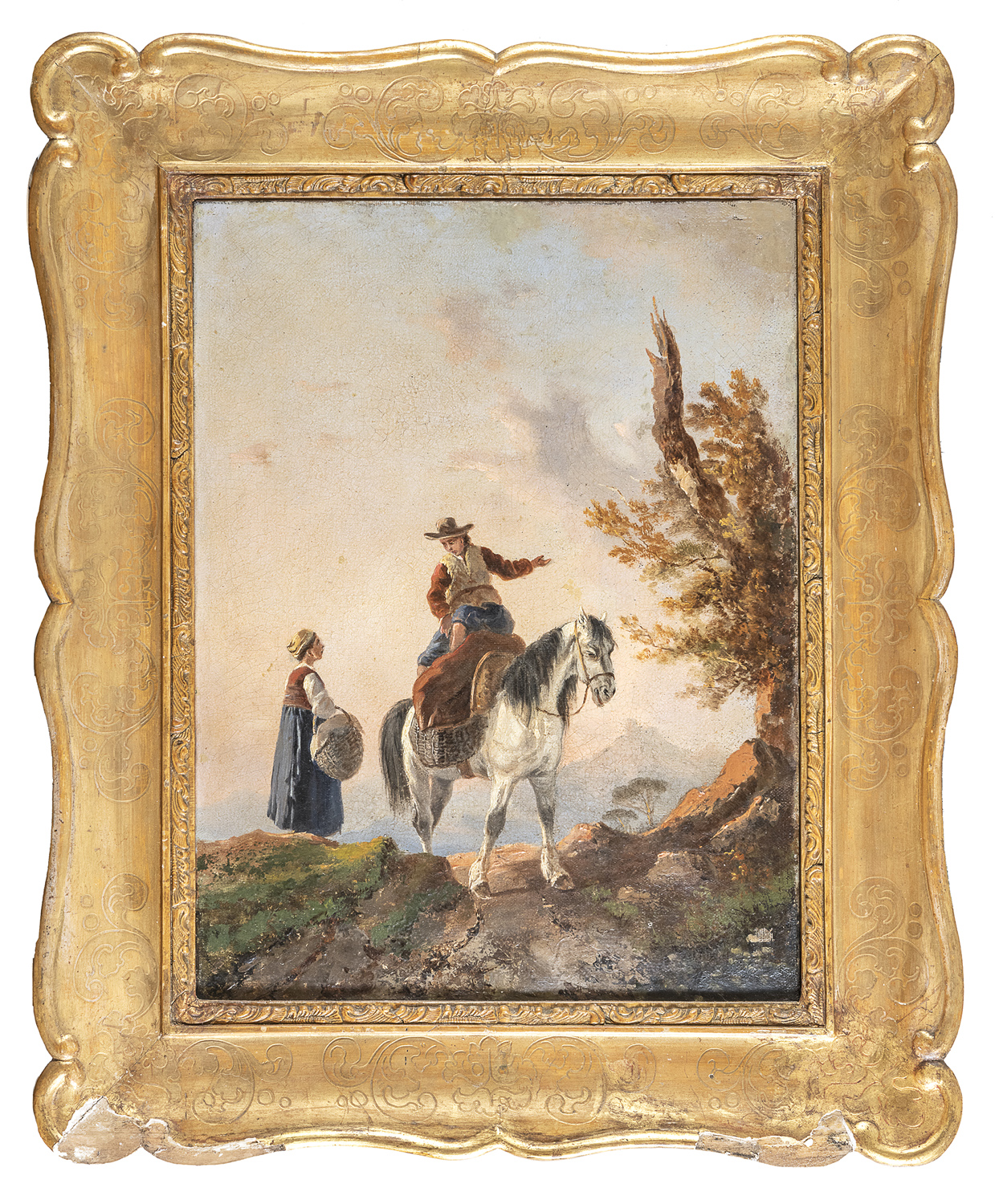 FRENCH OIL PAINTING 19TH CENTURY