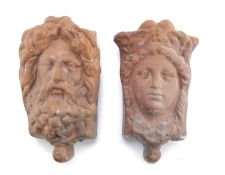 PAIR OF WALL VASES ARCHAEOLOGICAL STYLE 20th CENTURY