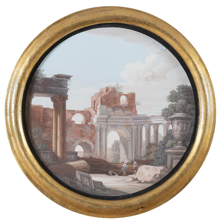 PAIR OF ITALIAN OIL PAINTINGS LATE 19TH CENTURY