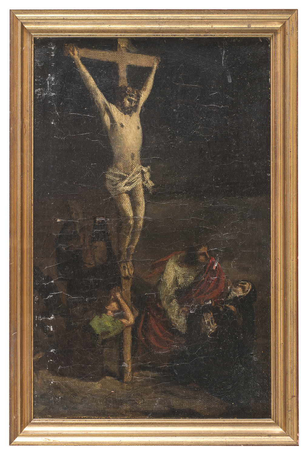 FRENCH OIL PAINTING LATE 18TH EARLY 19TH CENTURY