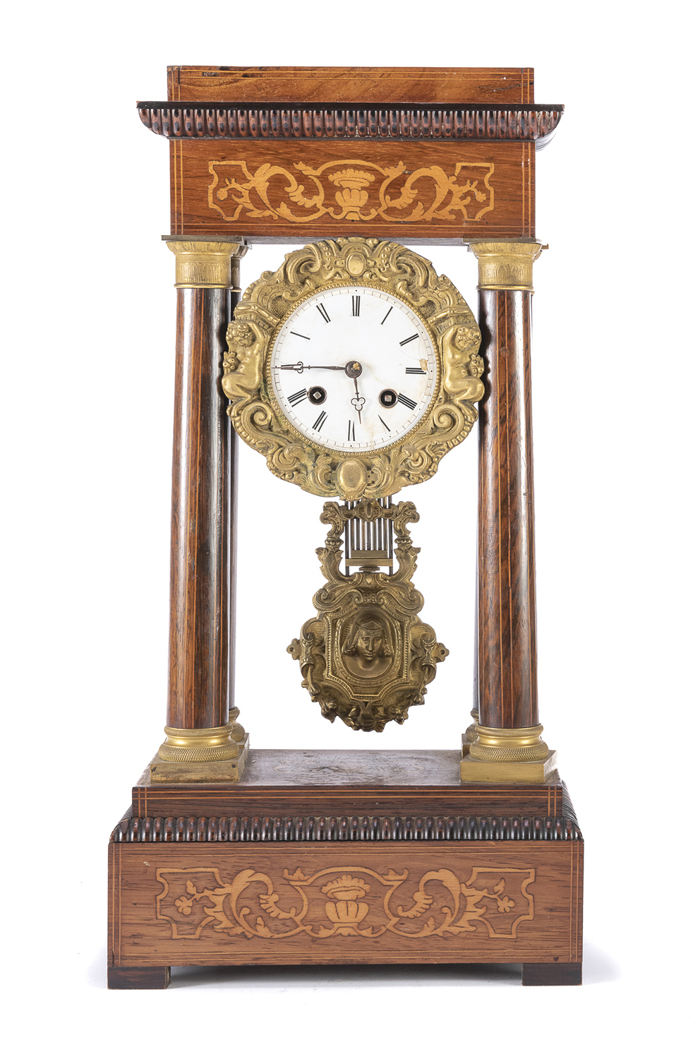 TABLE CLOCK IN ROSEWOOD 19th CENTURY