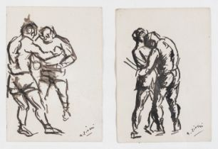 TWO INK DRAWINGS BY ALBERTO ZIVERI