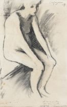 CHARCOAL DRAWING BY GIUSEPPE CAPOGROSSI 1974
