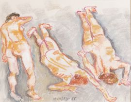 PASTEL DRAWING BY FAUSTO PIRANDELLO 1965
