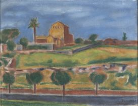 OIL PAINTING BY ORFEO TAMBURI 1940s