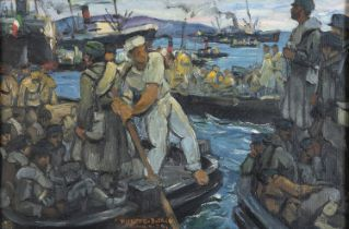 OIL PAINTING BY PIERETTO BIANCO 1934