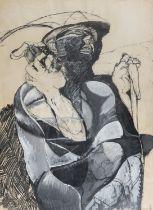 TEMPERA AND MIXED MEDIA BY LUIGI GUERRICCHIO 1970