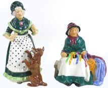 Two Royal Doulton figurines, modelled as 'Silks and Ribbons', HN2017, and 'Old Mother Hubbard',