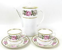 A Royal Worcester part dinner service, decorated in the Royal Garden pattern, comprising two tureens