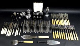 A collection of Roberts & Belk flatware and other silver plated items, including a twelve place