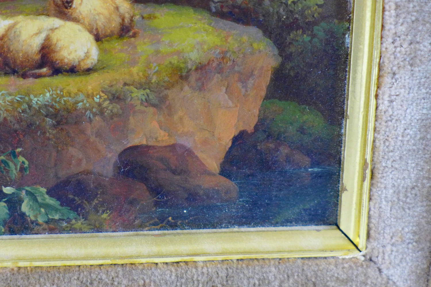 Attributed to Charles Towne (British, 1763-1840): 'Landscape & Cattle', signed 'Town' to a rock in - Image 6 of 11