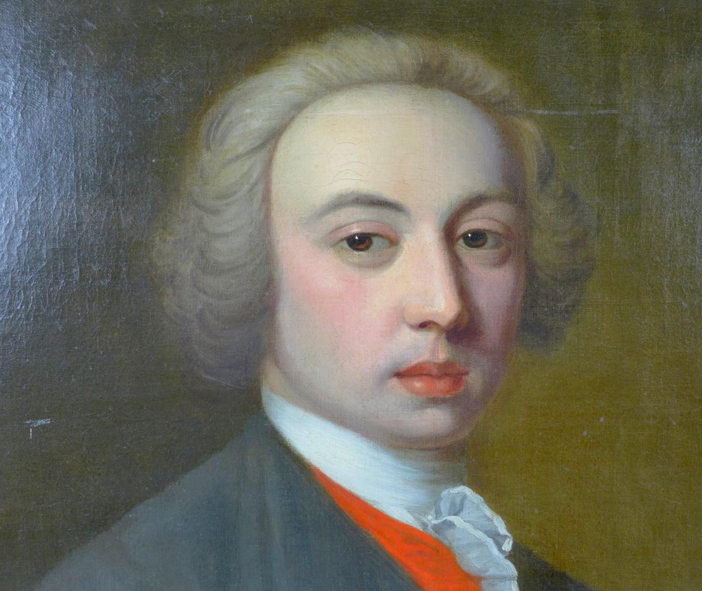 British School (early 19th century): half-length portrait of a Georgian gentleman, wearing a white - Image 3 of 15