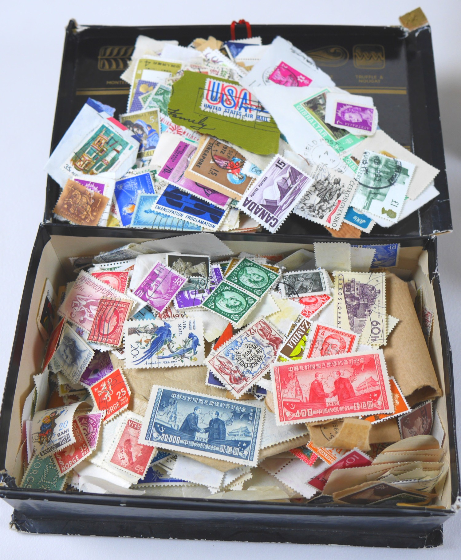 A collection of 20th century World stamps contained within six albums, mostly franked, together with - Image 2 of 12