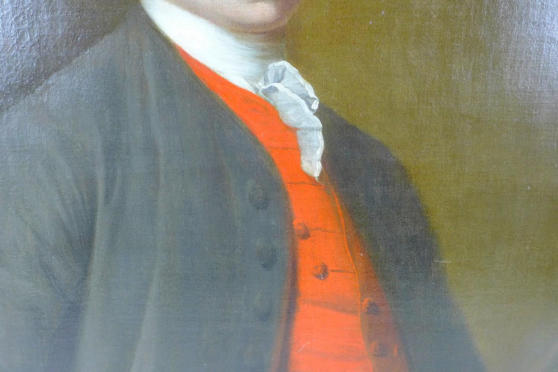 British School (early 19th century): half-length portrait of a Georgian gentleman, wearing a white - Image 4 of 15