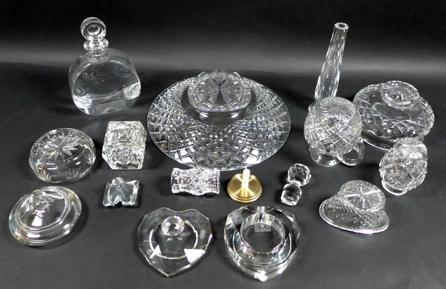 A collection of Waterford Crystal glass wares, including a shallow bowl, 26.5 by 7cm, pedestal bowl, - Image 2 of 12