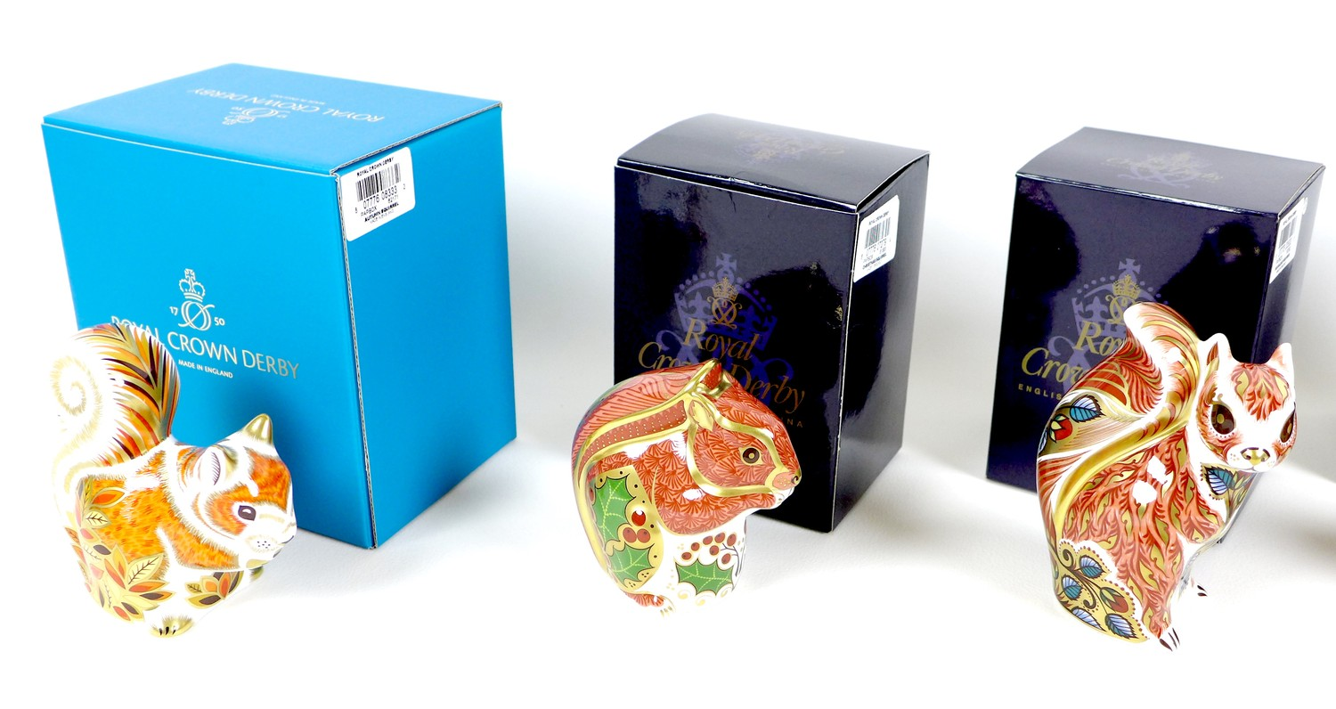 A group of six Royal Crown Derby paperweights, all modelled as squirrels, comprising 'Welbeck - Image 10 of 11