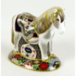 A Royal Crown Derby paperweight, modelled as 'Miniature Shetland Pony', limited edition 79/500