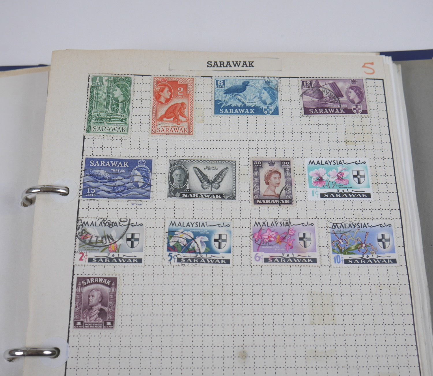 A collection of 20th century World stamps contained within six albums, mostly franked, together with - Image 6 of 12