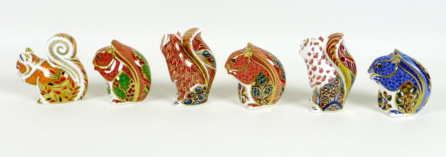 A group of six Royal Crown Derby paperweights, all modelled as squirrels, comprising 'Welbeck - Image 2 of 11