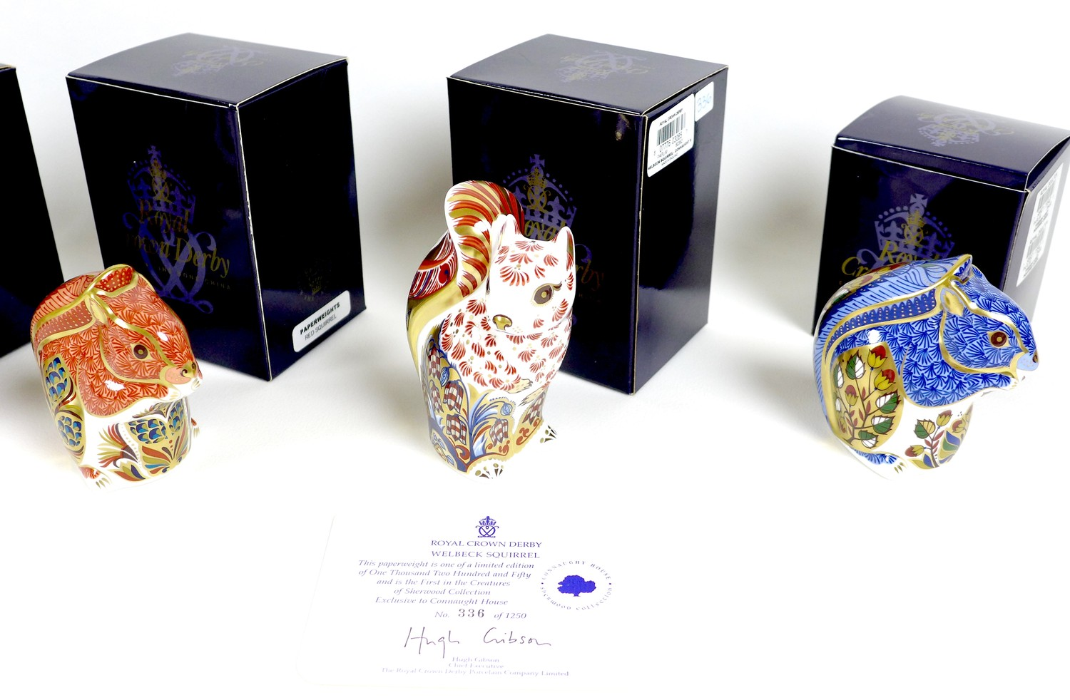 A group of six Royal Crown Derby paperweights, all modelled as squirrels, comprising 'Welbeck - Image 11 of 11