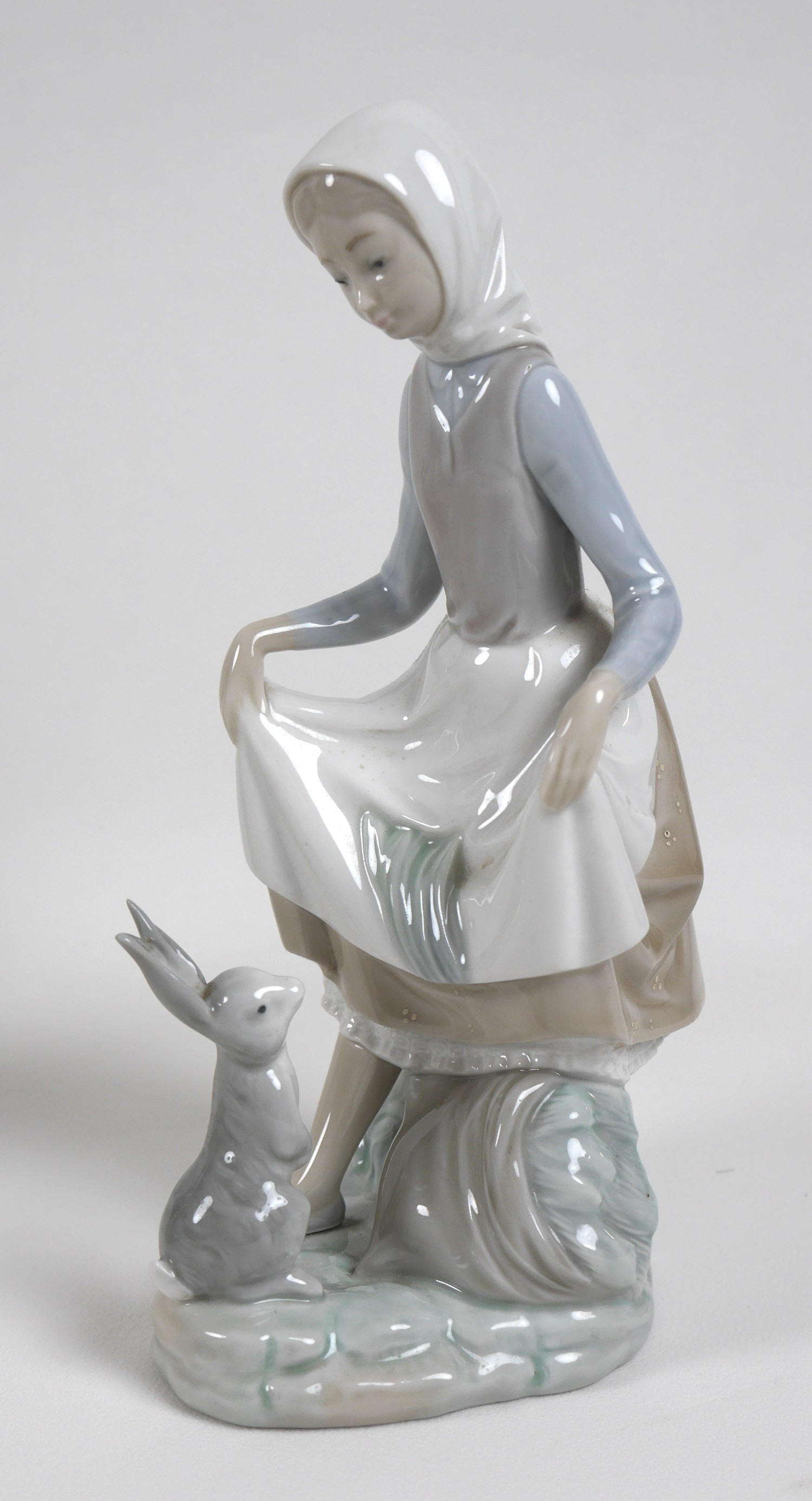 A group of five Lladro figures, comprising Armful of Lilies, number 4972, 24cm high, Peasant Girl - Image 2 of 11