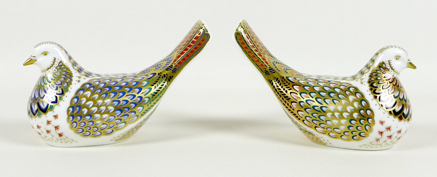 Two Royal Crown Derby paperweights, comprising 'Millenium Dove', limited edition 1130/1500, an - Image 2 of 8