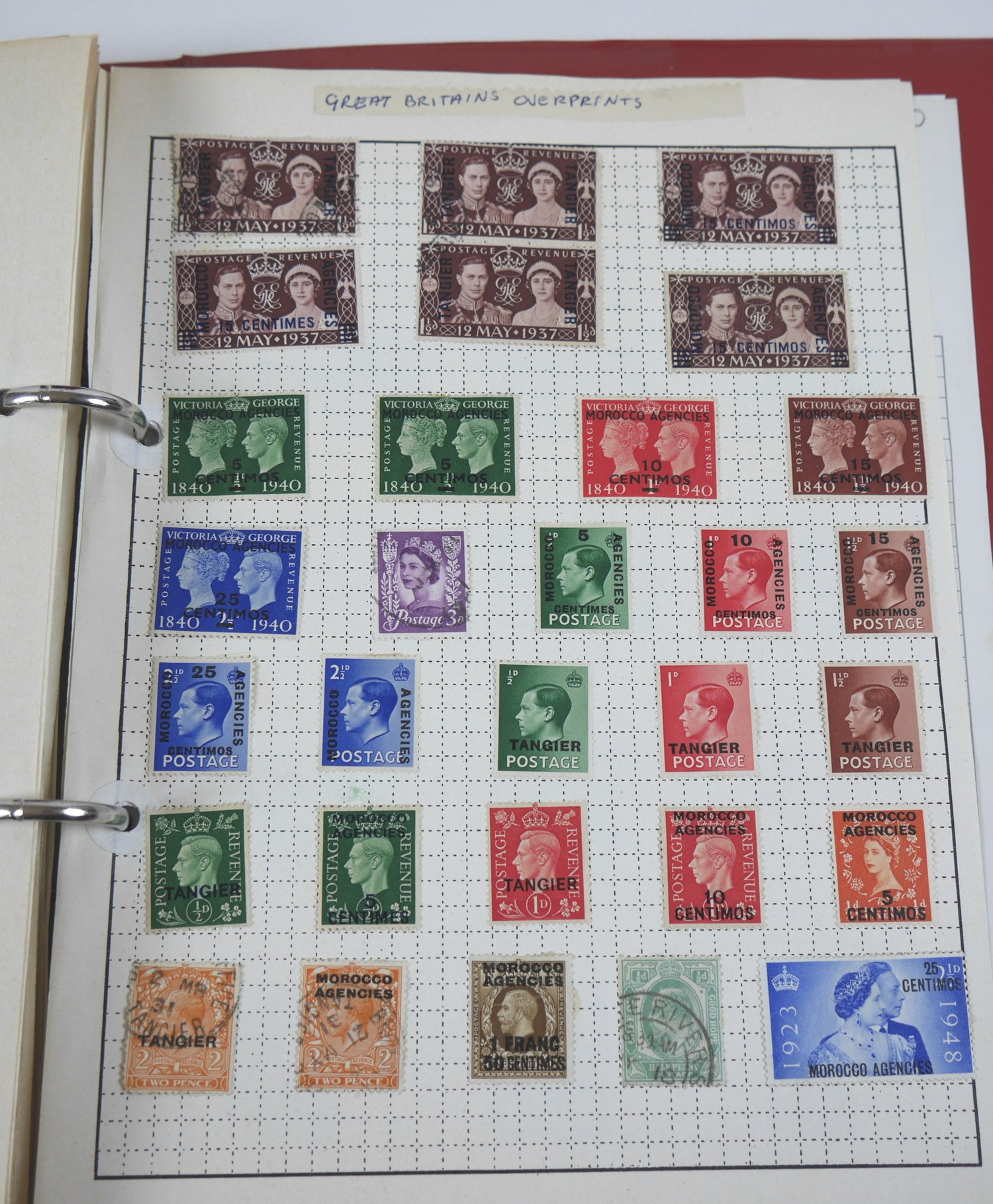 A collection of 20th century World stamps contained within six albums, mostly franked, together with - Image 5 of 12