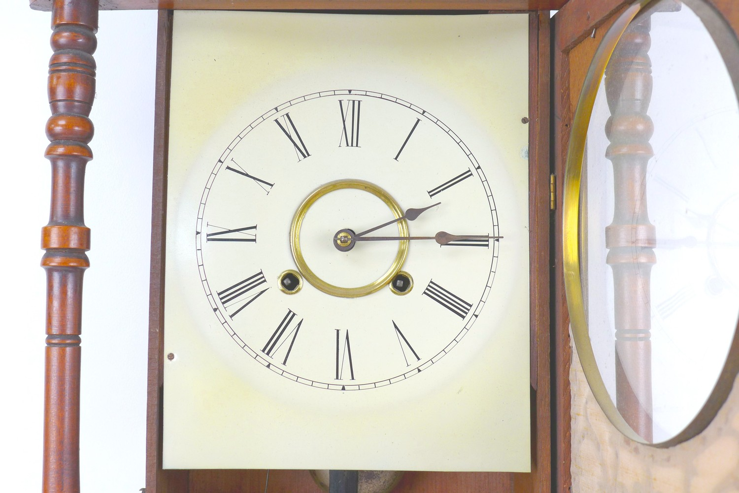 An early 20th century Vienna regulator wall clock with Tunbridge ware inlaid mahogany case, a - Image 3 of 5