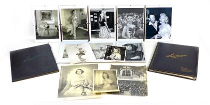 A group of early to mid 20th century celebrity and Lenare photographic print portraits, a press