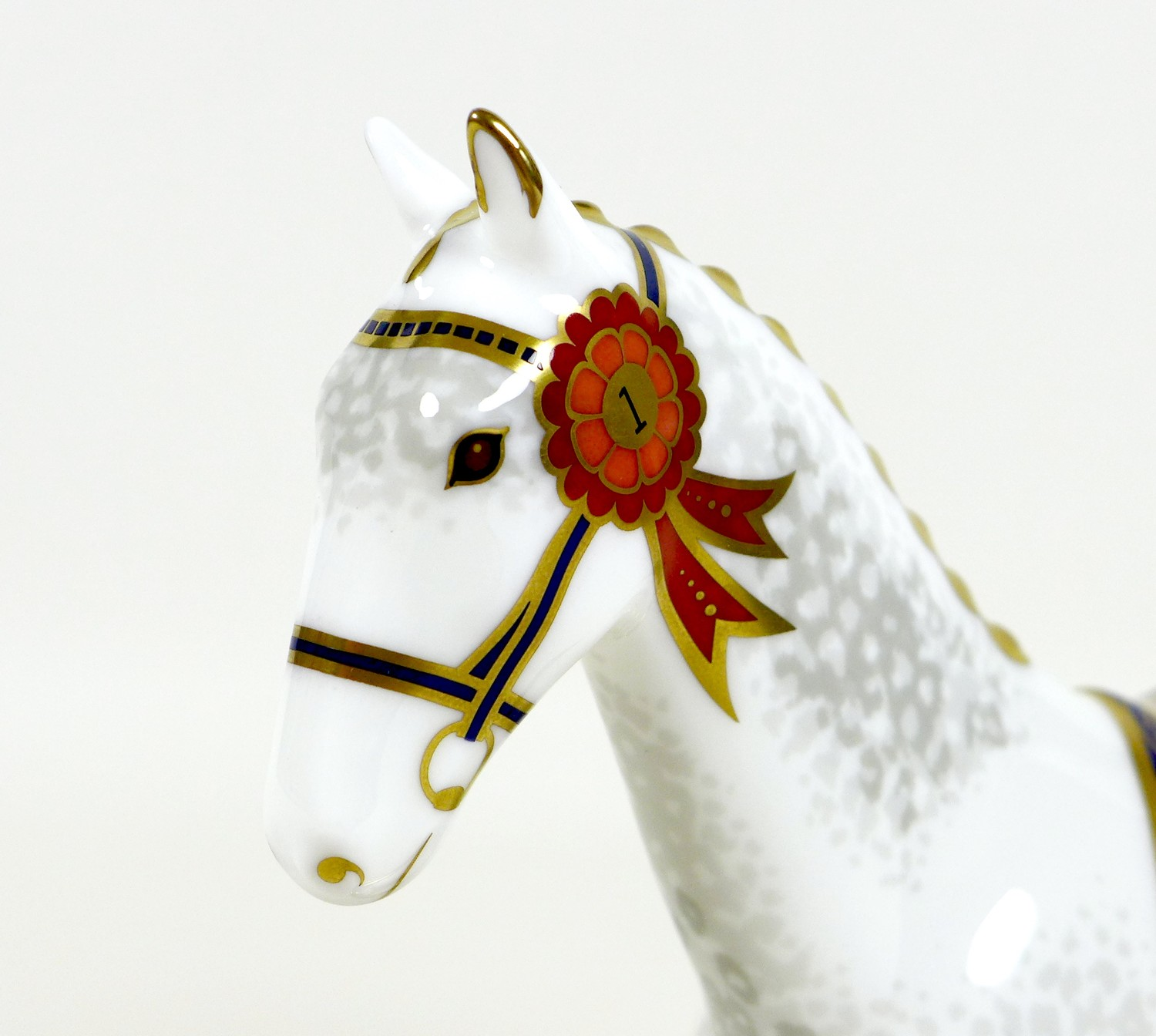A Royal Crown Derby paperweight, modelled as 'The Show Pony', Designers' Choice Collection, - Image 7 of 9