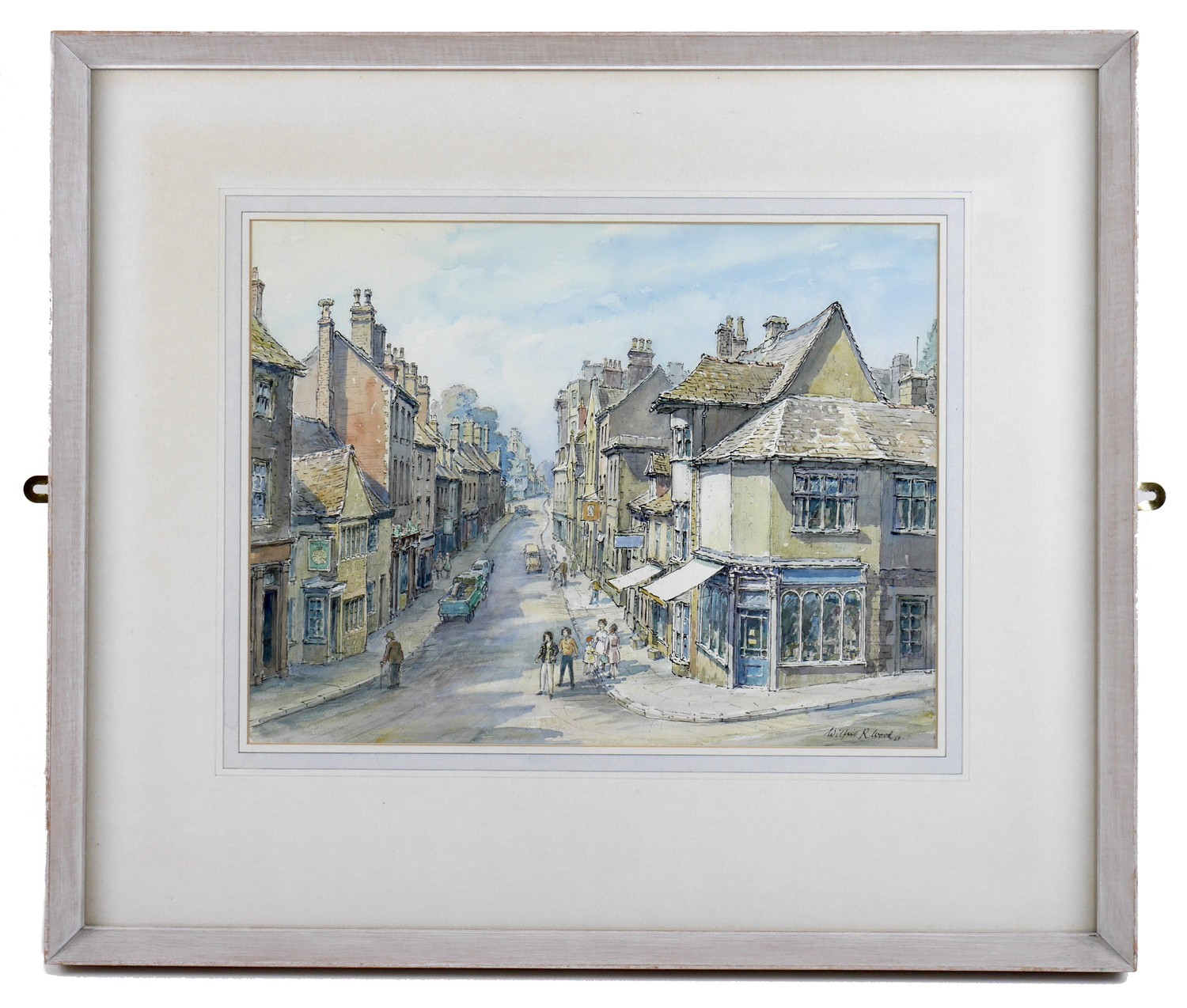Wilfrid Rene Wood (British, 1888-1976): a view of Stamford, depicting ?All Saints Place? (No 48), - Image 2 of 7