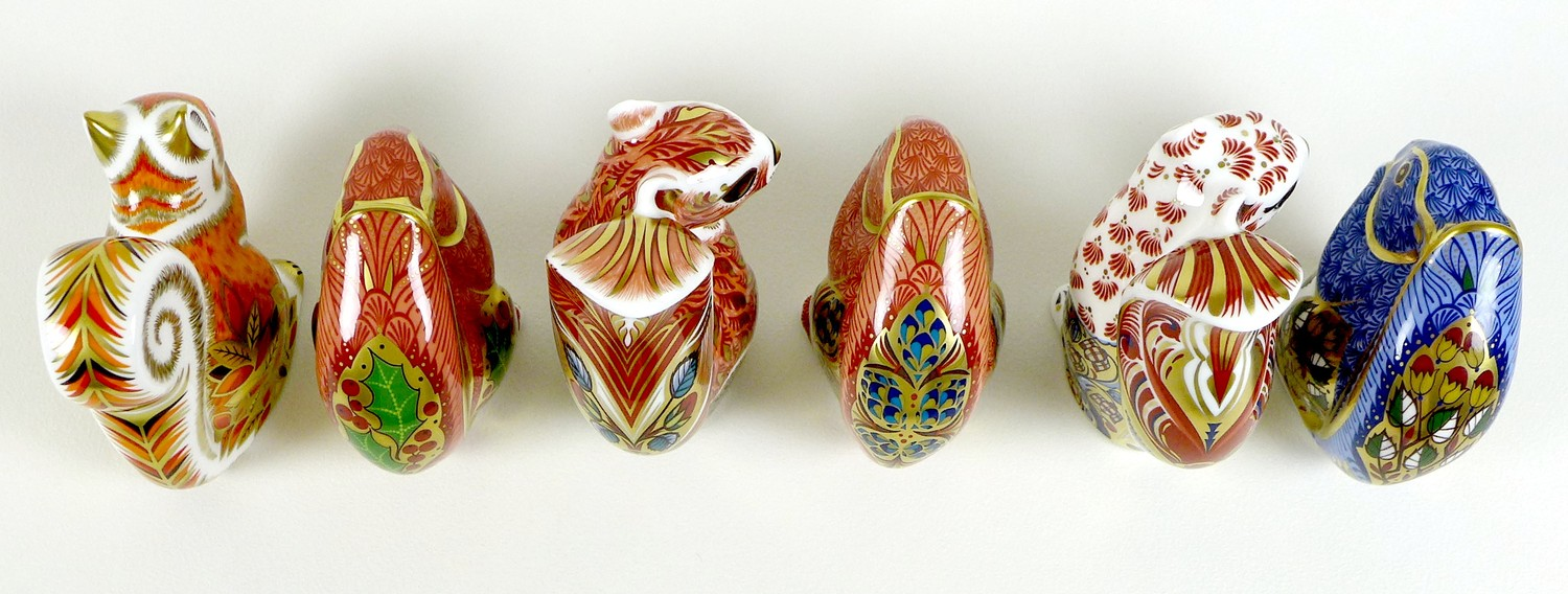 A group of six Royal Crown Derby paperweights, all modelled as squirrels, comprising 'Welbeck - Image 5 of 11