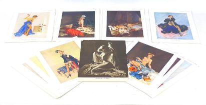 A group of over thirty-five early to mid 20th century erotic portrait prints, mostly after David