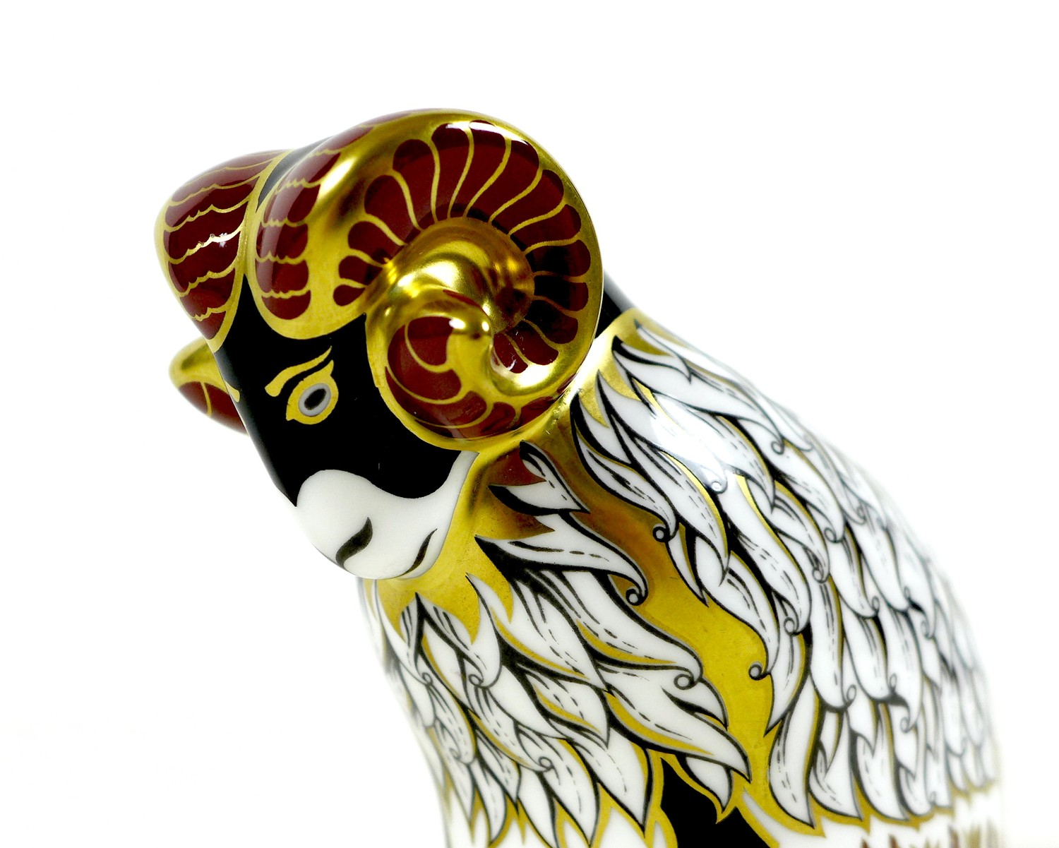 A football related Royal Crown Derby paperweight, modelled as 'Derby County Ram', one of a Exclusive - Image 3 of 8
