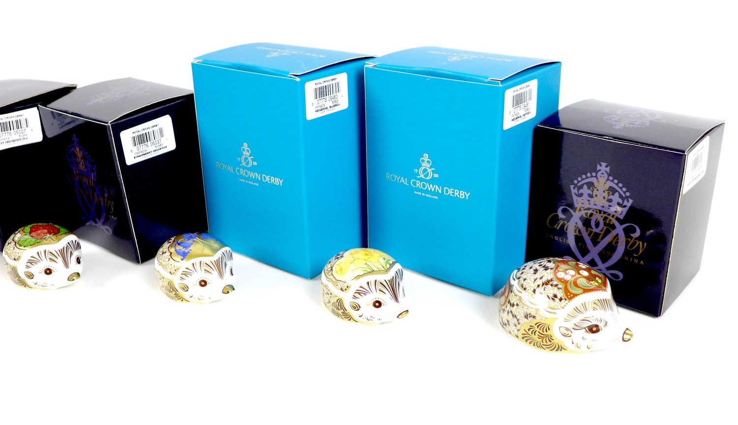 A group of eight small Royal Crown Derby paperweights, all modelled as hedgehogs, comprising ' - Image 16 of 16