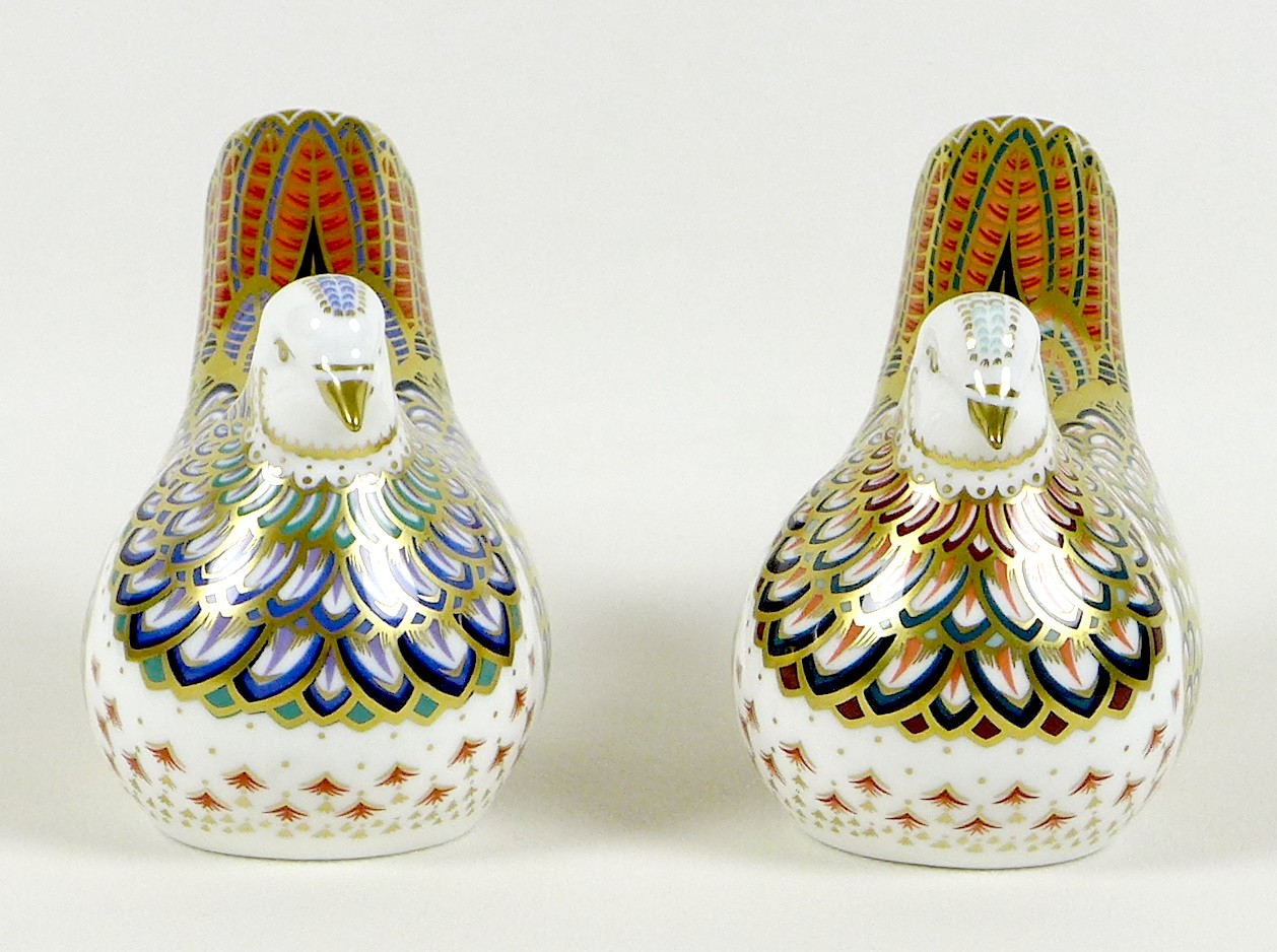 Two Royal Crown Derby paperweights, comprising 'Millenium Dove', limited edition 1130/1500, an - Image 3 of 8