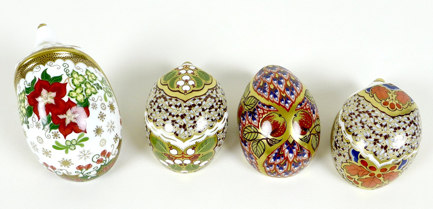 A group of four Royal Crown Derby paperweights, all modelled as hedgehogs, comprising 'Orchard - Image 5 of 10