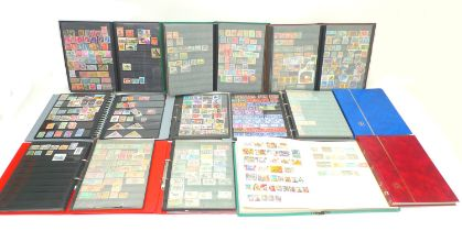 A large collection of stamps, mostly 20th century, though some earlier, GB stamps, First Day