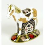 A Royal Crown Derby paperweight, modelled as 'Epsom Filly, limited edition 229/500, MMXIII, gold