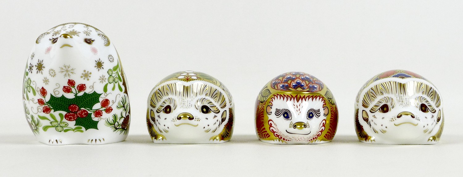 A group of four Royal Crown Derby paperweights, all modelled as hedgehogs, comprising 'Orchard - Image 4 of 10
