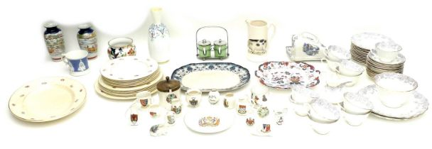 A collection of ceramics, including a vintage Royal Staffordshire, by Clarice Cliff part service,
