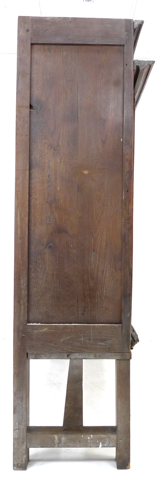 A French oak cupboard, 19th century and later, with carved and baluster detail, bears carved date ' - Image 5 of 6
