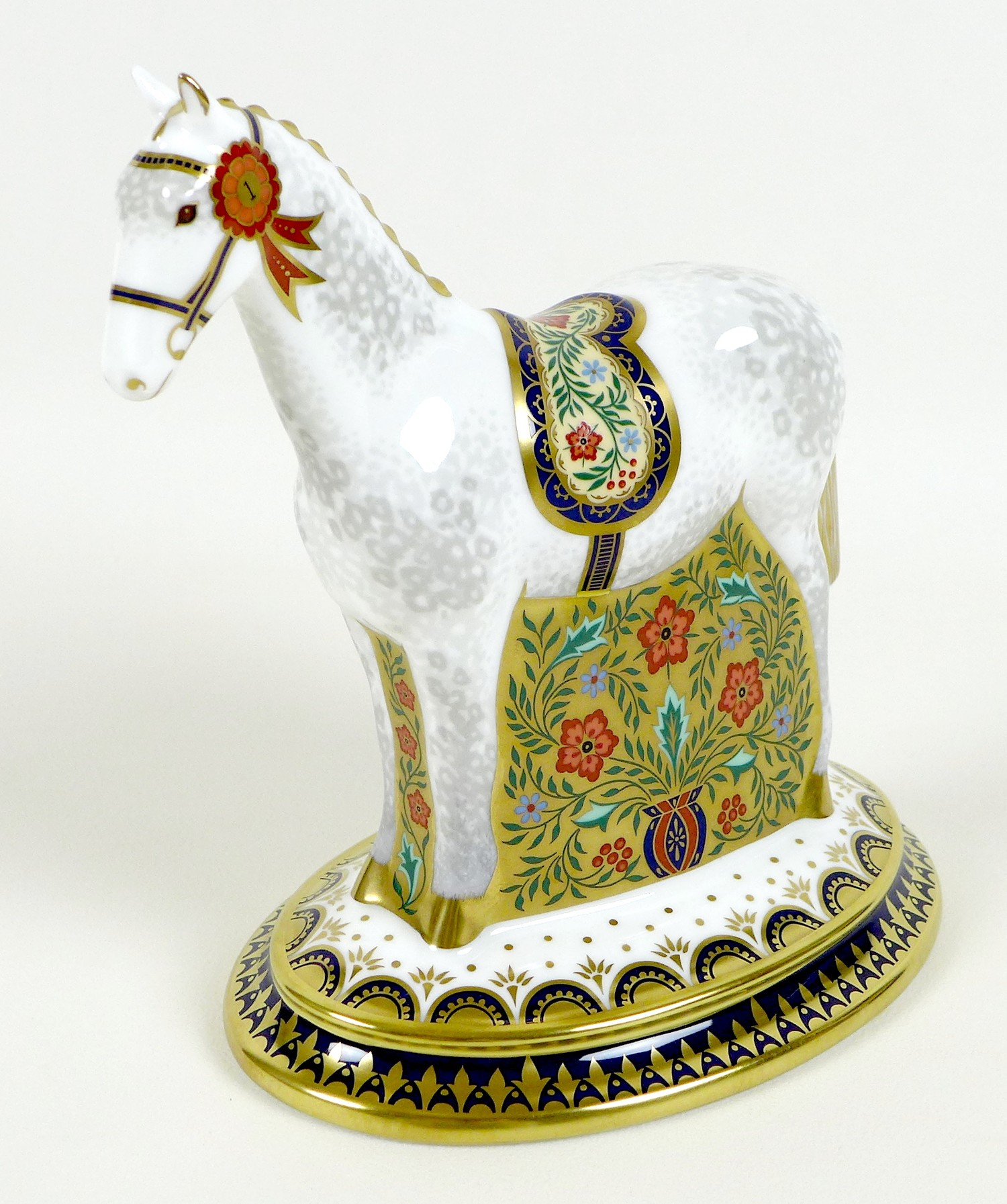 A Royal Crown Derby paperweight, modelled as 'The Show Pony', Designers' Choice Collection,