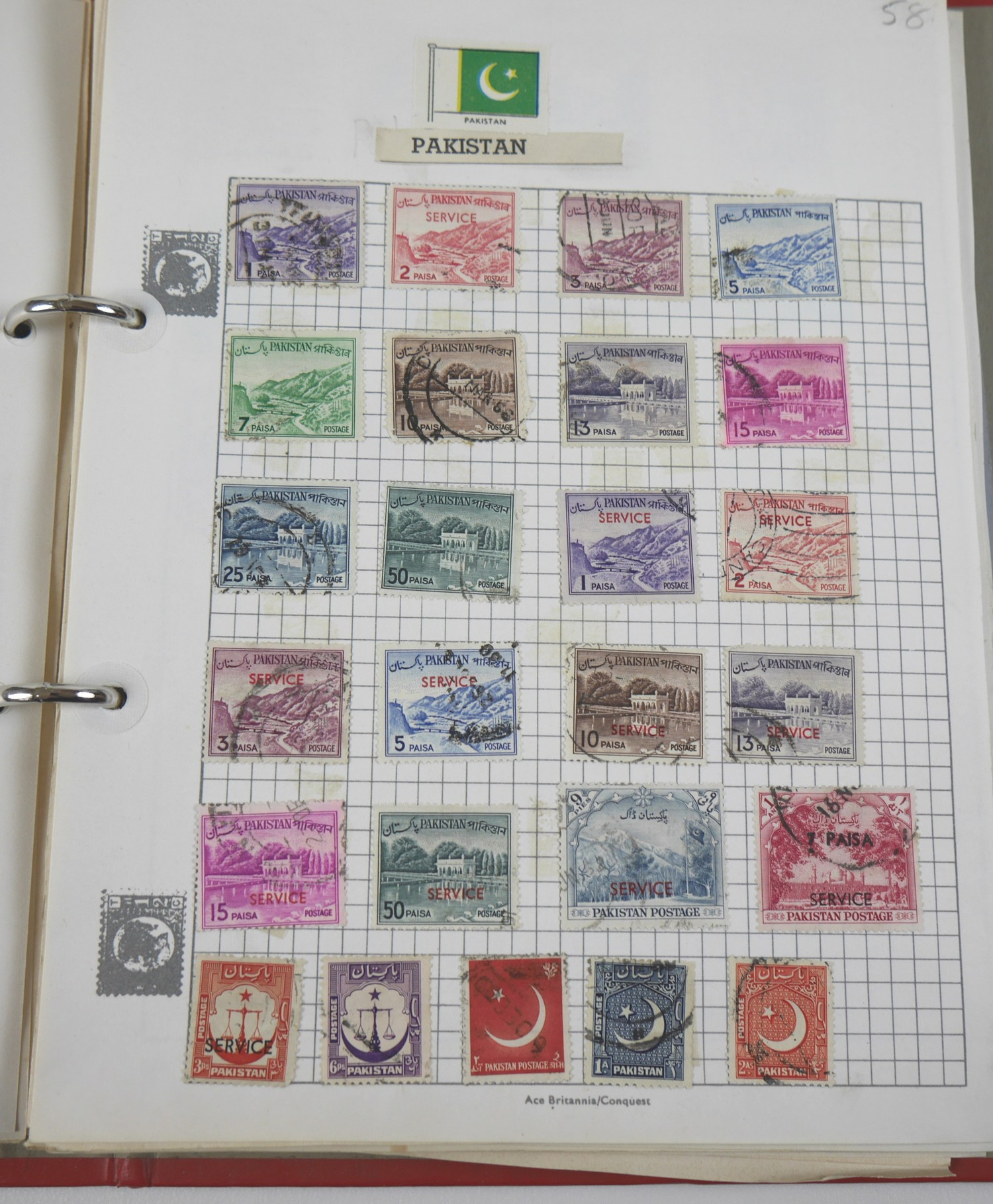 A collection of 20th century World stamps contained within six albums, mostly franked, together with - Image 7 of 12