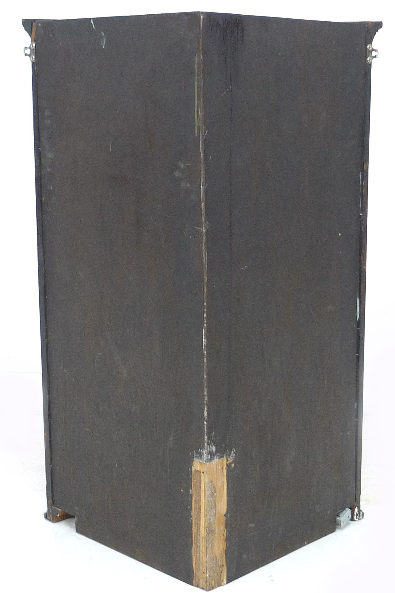 A George III mahogany bow fronted corner cupboard, with green painted interior, 72 by 50 by 106cm - Image 3 of 4